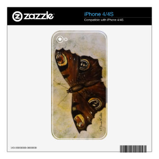 Frida Kahlo Painted Butterfly Skin For The iPhone 4S