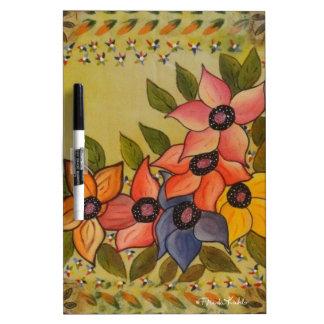 Frida Kahlo Painted Flores Dry Erase Board