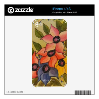 Frida Kahlo Painted Flores iPhone 4 Skins