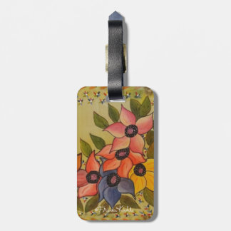 Frida Kahlo Painted Flores Bag Tags