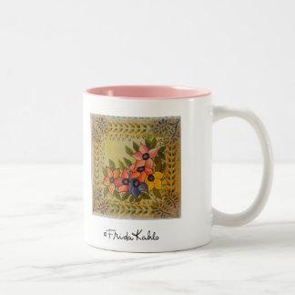 Frida Kahlo Painted Flores Two-Tone Coffee Mug
