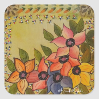 Frida Kahlo Painted Flores Stickers