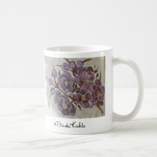Frida Kahlo Painted Flowers Classic White Coffee Mug