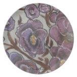 Frida Kahlo Painted Flowers Plate