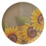 Frida Kahlo Painted Sunflowers Dinner Plates