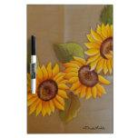 Frida Kahlo Painted Sunflowers Dry-Erase Board