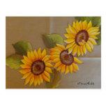 Frida Kahlo Painted Sunflowers Postcard