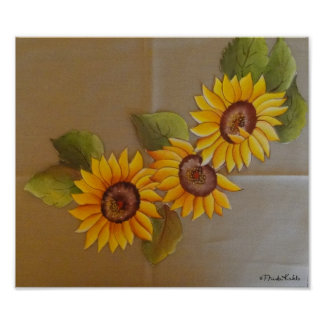 Frida Kahlo Painted Sunflowers Poster