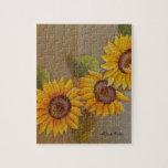 Frida Kahlo Painted Sunflowers Puzzles