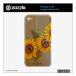 Frida Kahlo Painted Sunflowers Skins For iPhone 4S