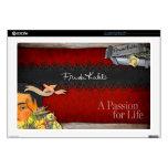 Frida Kahlo - pasión para la vida Calcomanías Para Portátiles