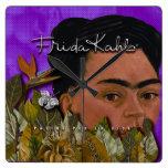 Frida Kahlo Pasion Por La Vida 2 Square Wall Clock