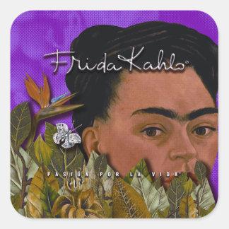 Frida Kahlo Pasion Por La Vida Square Sticker