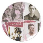 Frida Kahlo Photo Montage Dinner Plates