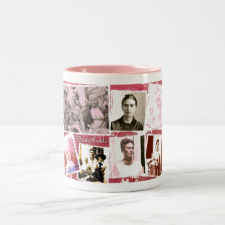 Frida Kahlo Photo Montage Two-Tone Coffee Mug