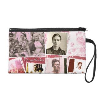 Frida Kahlo Photo Montage Wristlet Purse