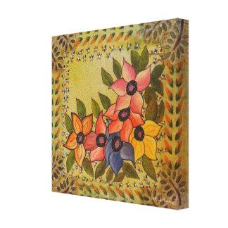 Frida Kahlo pintó Flores Impresión En Lona Estirada