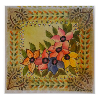 Frida Kahlo pintó Flores Poster