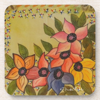 Frida Kahlo pintó Flores Posavasos De Bebidas