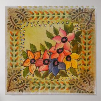 Frida Kahlo pintó Flores Póster