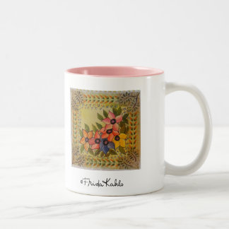 Frida Kahlo pintó Flores Taza De Café De Dos Colores