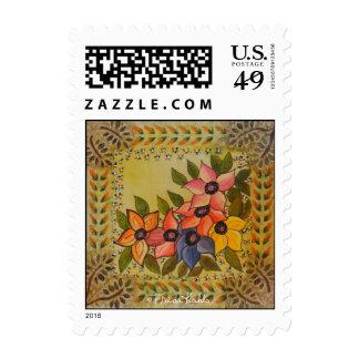 Frida Kahlo pintó Flores Timbre Postal