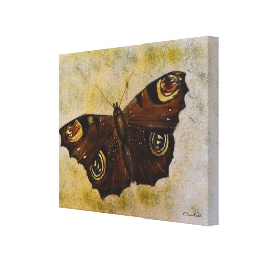 Frida Kahlo pintó la mariposa Impresión En Lienzo