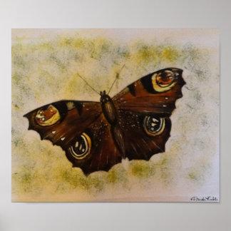 Frida Kahlo pintó la mariposa Póster