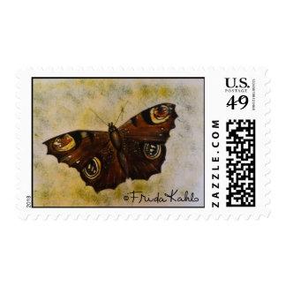 Frida Kahlo pintó la mariposa Sellos Postales