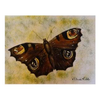 Frida Kahlo pintó la mariposa Tarjetas Postales