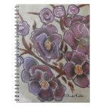 Frida Kahlo pintó las flores Spiral Notebooks