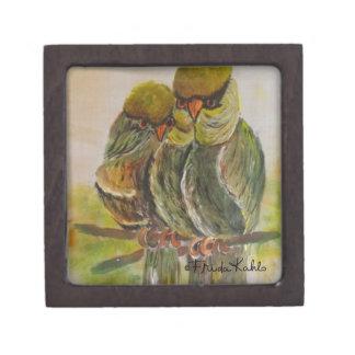 Frida Kahlo pintó pájaros Caja De Joyas De Calidad