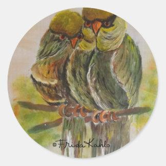 Frida Kahlo pintó pájaros Pegatina Redonda