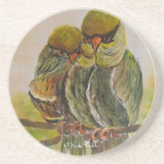 Frida Kahlo pintó pájaros Posavaso Para Bebida