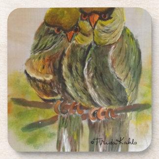 Frida Kahlo pintó pájaros Posavasos De Bebidas