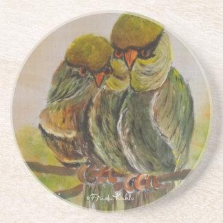 Frida Kahlo pintó pájaros Posavasos Para Bebidas