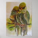 Frida Kahlo pintó pájaros Póster