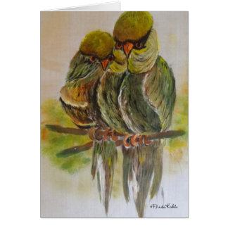 Frida Kahlo pintó pájaros Tarjeta De Felicitación