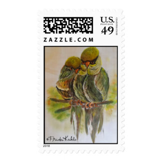 Frida Kahlo pintó pájaros Timbre Postal