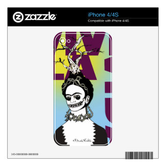 Frida Kahlo Pop Art Portrait iPhone 4S Decals