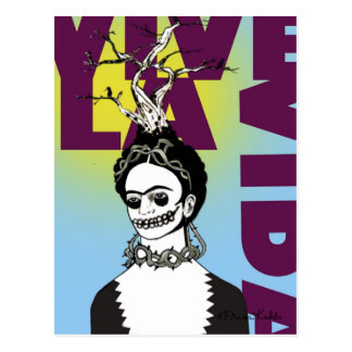 Frida Kahlo Pop Art Portrait Postcard