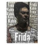Frida Kahlo que pone letras al retrato Cuaderno