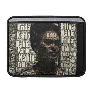 Frida Kahlo que pone letras al retrato Fundas Macbook Air