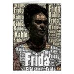 Frida Kahlo que pone letras al retrato Felicitaciones