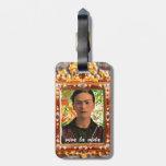 Frida Kahlo Reflejando Etiqueta De Maleta