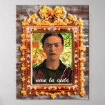 Frida Kahlo Reflejando Impresiones