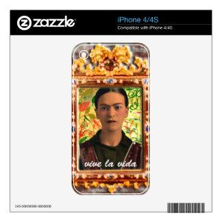 Frida Kahlo Reflejando iPhone 4S Skin