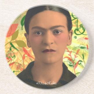 Frida Kahlo Reflejando Posavaso Para Bebida