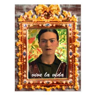 Frida Kahlo Reflejando Postcard