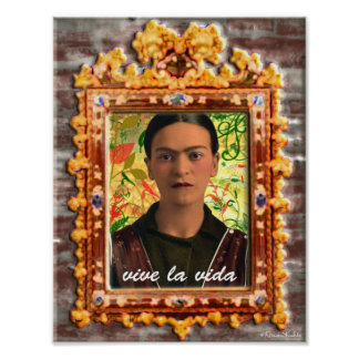 Frida Kahlo Reflejando Poster